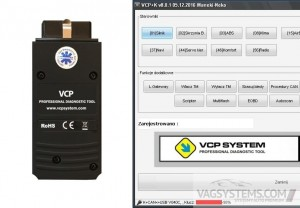 Interface diagnostyczny VCP