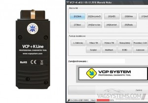 Interface diagnostyczny VCP + K-line